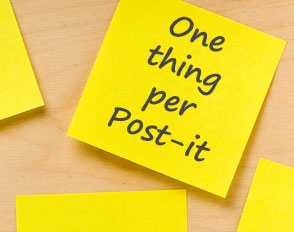One-thing-per-post-it